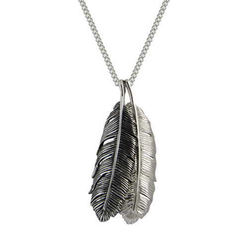 4N10003 Huia Feather Duo Necklace
