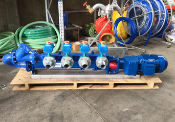 Dairy effluent managed with new MONO pump with 4 way automatically actuated valves