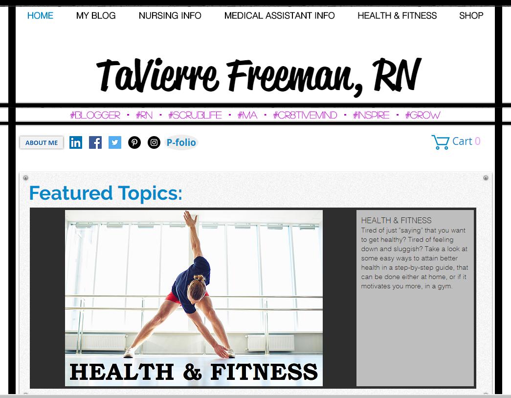 TAVIERRE FREEMAN | Becoming a Registered Nurse | Student