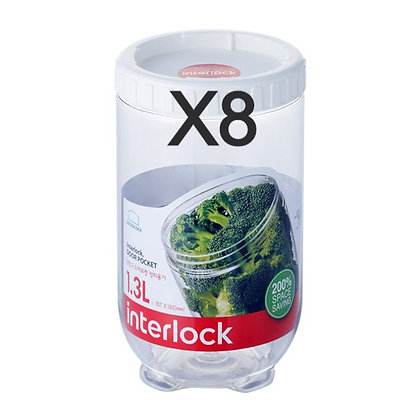 סט 8 צנצנות אינטרלוק  1.3 ליטר לוק אנד לוק