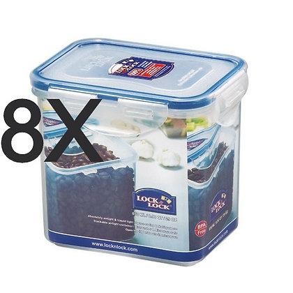 """סט 8 קופסאות הרמטיות לוק & לוק 850 מ""""ל"""