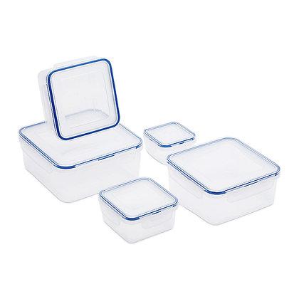 סט 5 קופסאות מרובעות לוק אנד לוק