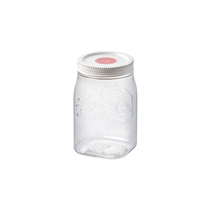 """צנצנת הרמטית מרובעת פלסטיק 750 מ""""ל"""
