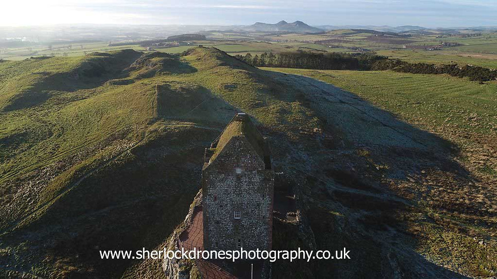 Smailhom Tower, image by Sherlock Drones Photography, Aerial Photography, Scottish Borders