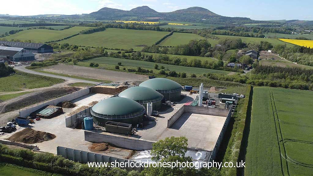St Boswells Biogas, Charlesfield, St Boswells Scottish Borders, image by Sherlock Drones Photography
