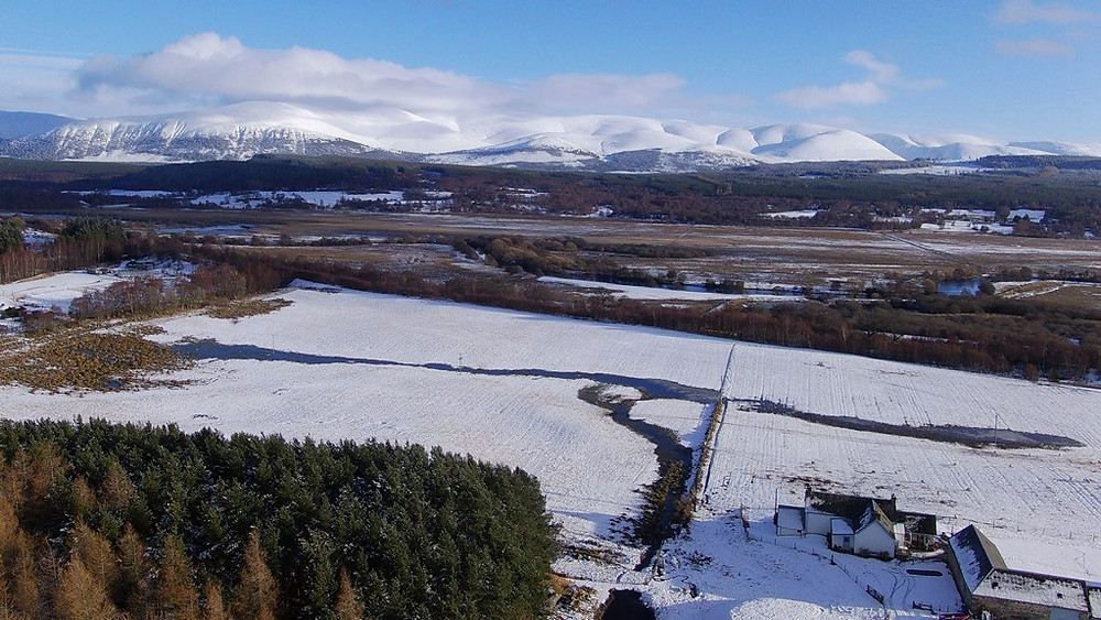 View of Cairngorms from Croftcarnoch