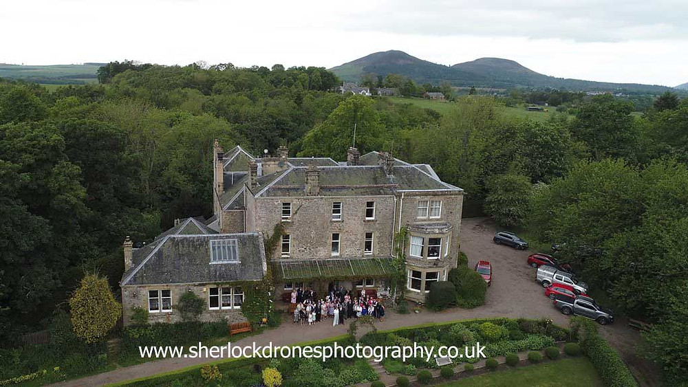 Scottish Borders aerial wedding photography