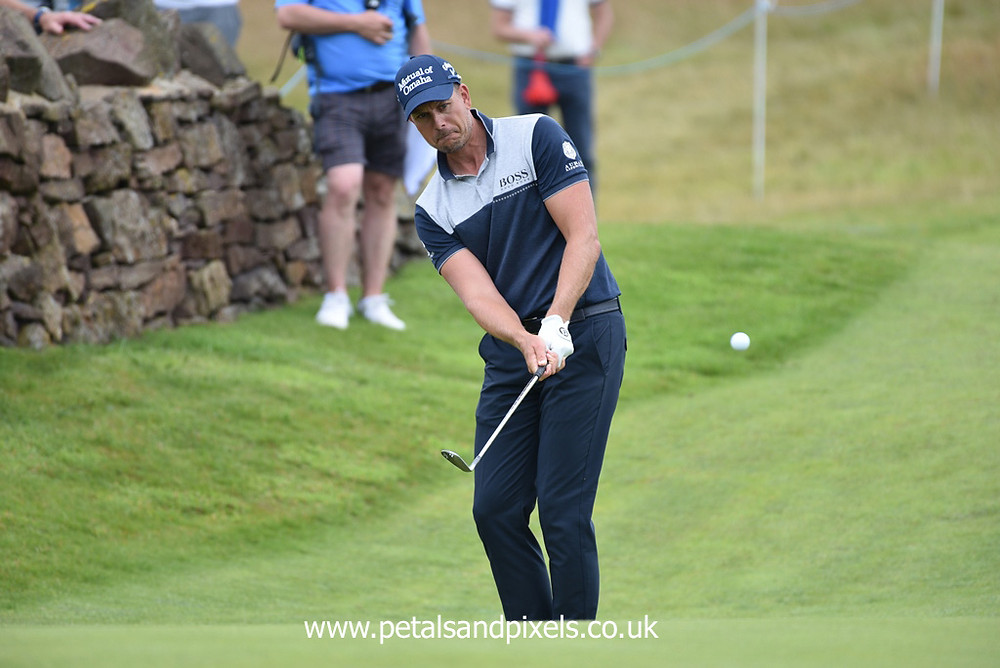 Henrick Stenson at the Scottish Open in 2019, Petals and Pixels