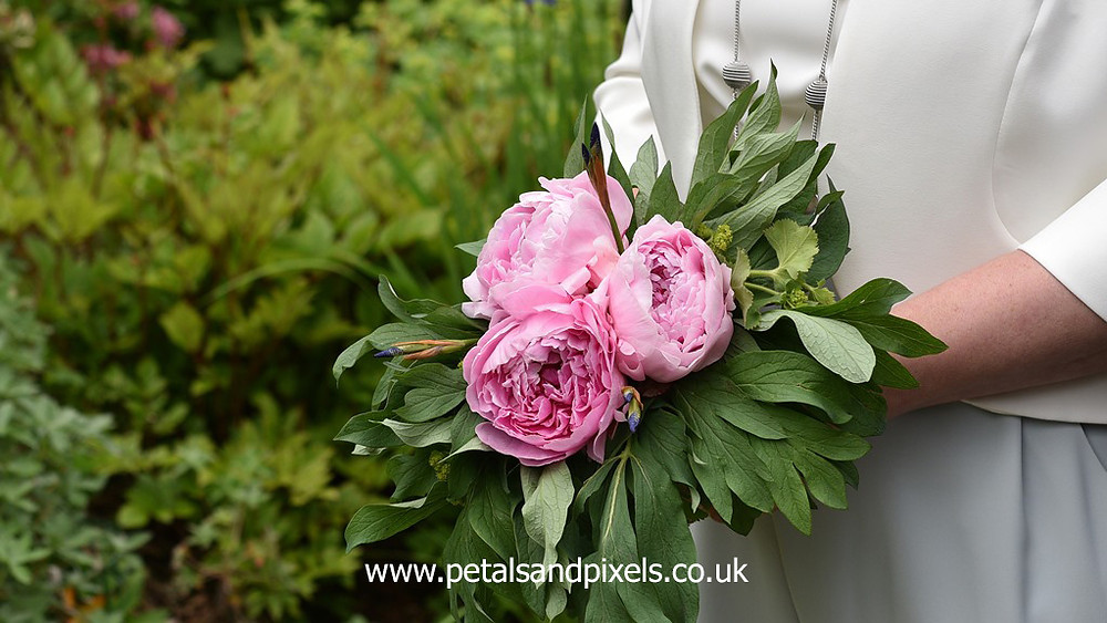 Peony bouquet by Petals and Pixels