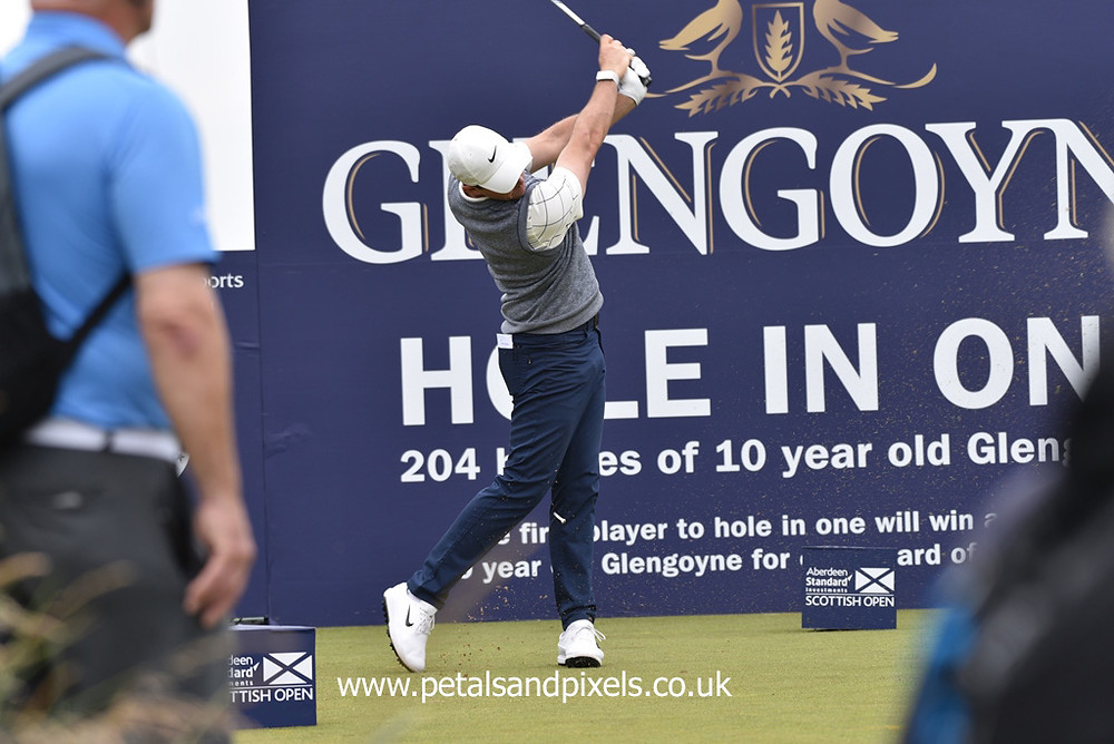Rory Mcilroy in action at the Scottish Open by Petals and Pixels