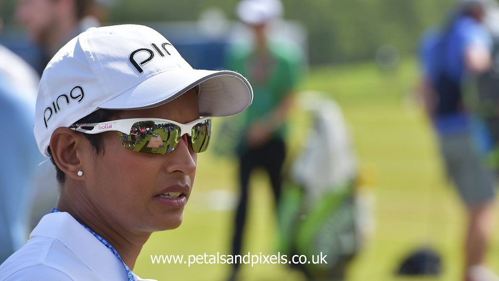 Naga Munchetty at the Scottish Open in 2019, Petals and Pixels