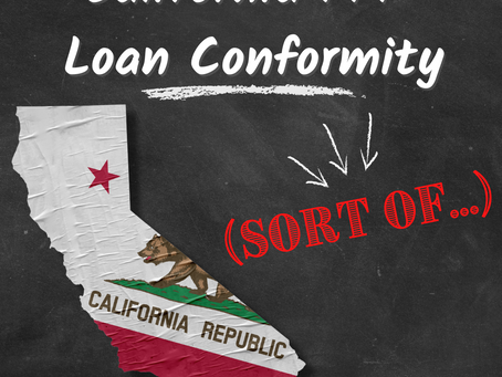 California PPP Loan Conformity (sort of...)