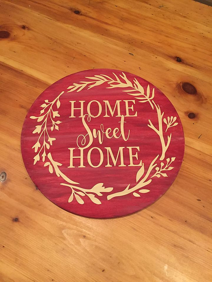 circular wooden signs home biffs local acw make and take sign class 3 signs