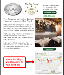 Directions and map to your business.