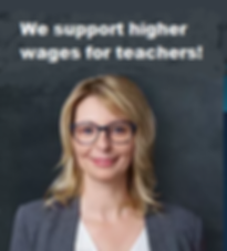 Support higher wages for teachers