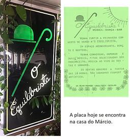 """Placa Bar """"O Equilibrista"""" (1980)"""