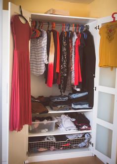 Kleiderschrank-Kur vorher