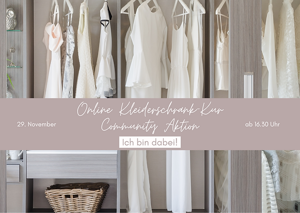 Online Kleiderschrank-Kur Community Akti