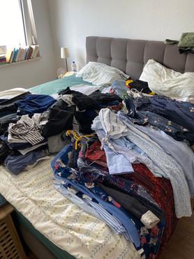 Kleiderschrank-Kur bei einer Kundin