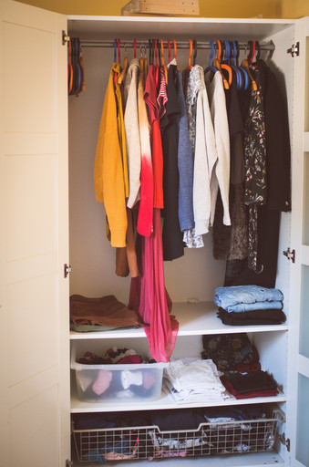 Kleiderschrank-Kur nachher