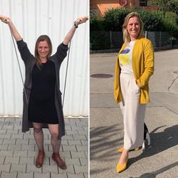 Vor und nach dem Identity Styling