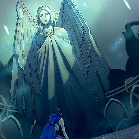 statue déesse antique lilith ange ailée