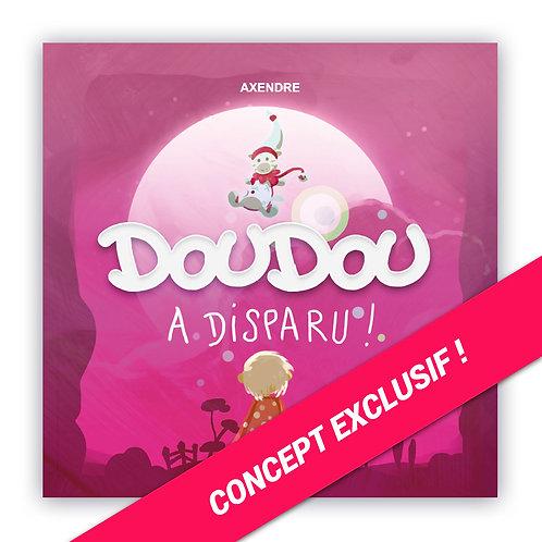 Livre + CD pour enfant personnalisé - Doudou a disparu + dédicace et aquarelle