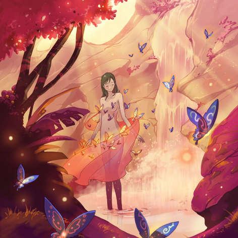 La robe de papillons