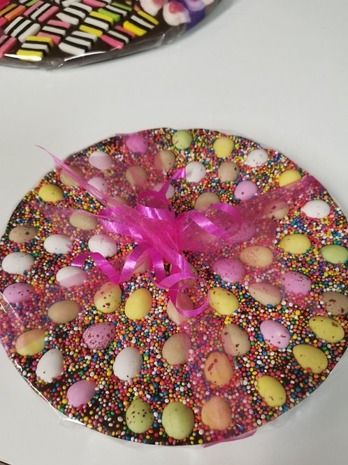 Easter Eggs Chocolate Pizza
