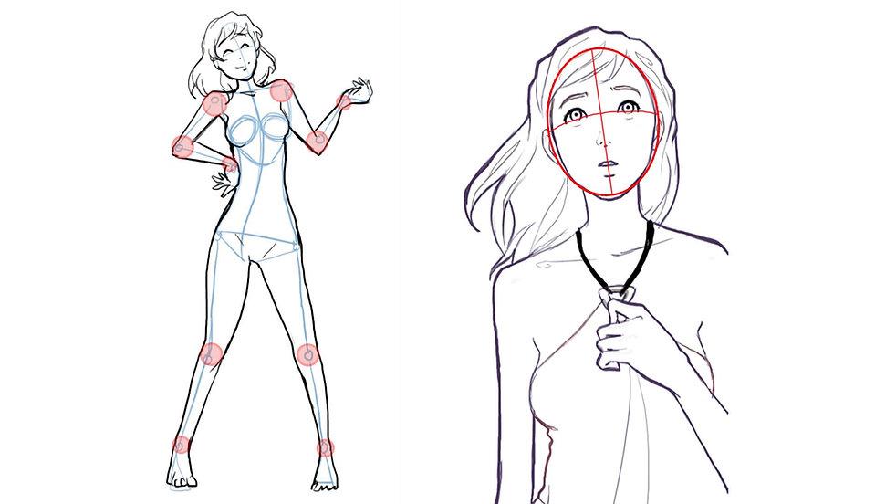 Apprendre à dessiner un personnage visag