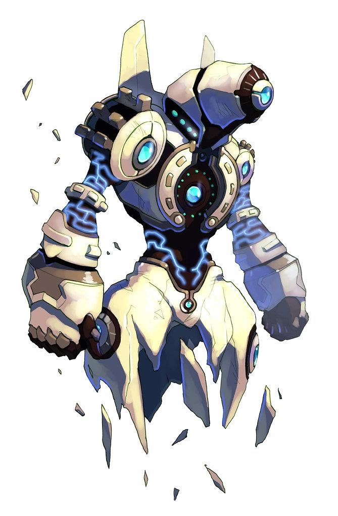 golem mecha robot design