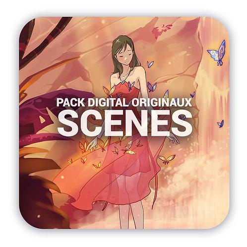 Pack digital 18 illustrations - Fichiers originaux