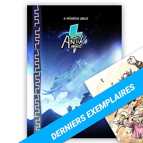 Manga ANTIK PANIC T1 collector + aquarelle