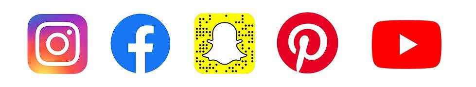 Logos réseaux sociaux populaires