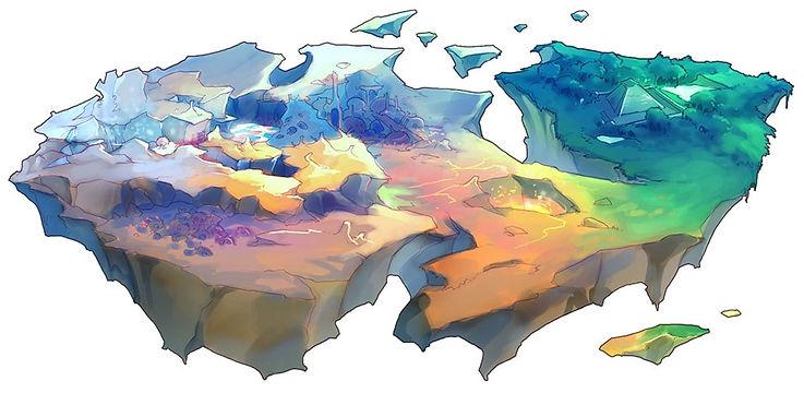 Carte du monde eden