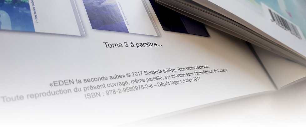 ISBN informations légales livre bande de
