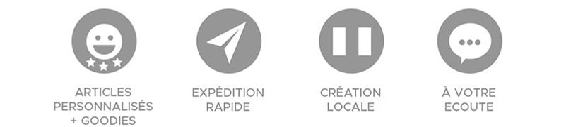 Icones vente expédition service client