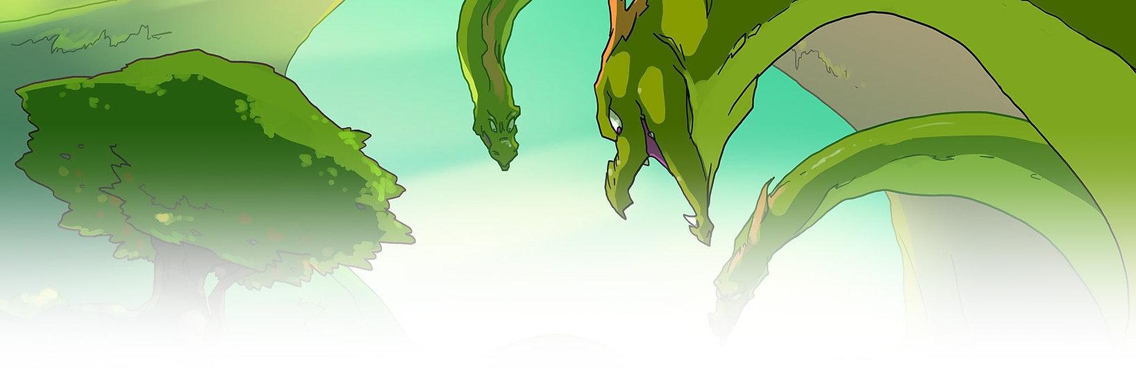 dragons manga antik panic Ladon 100 tête