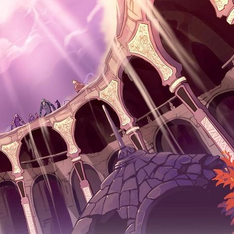 palais ensablé colonnes piliers ornement