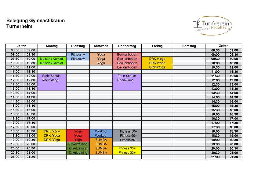 Trainingszeiten Gymnastikraum 10.10.20.j
