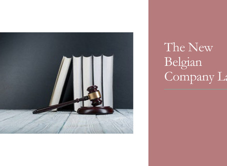 The new Belgian company law