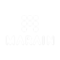 Marain Logo Vertical Monochrome White 55
