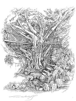 Treehouse B&W