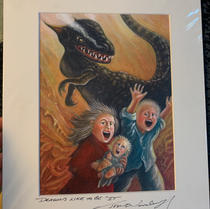 16.) Dragons Like to be It 11x14 (5 in Stock)