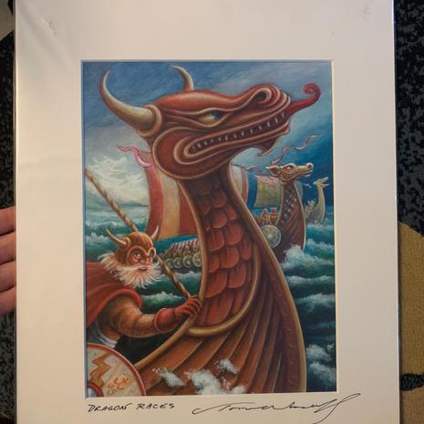 13.) Dragon Races 11x14 (1 in Stock)