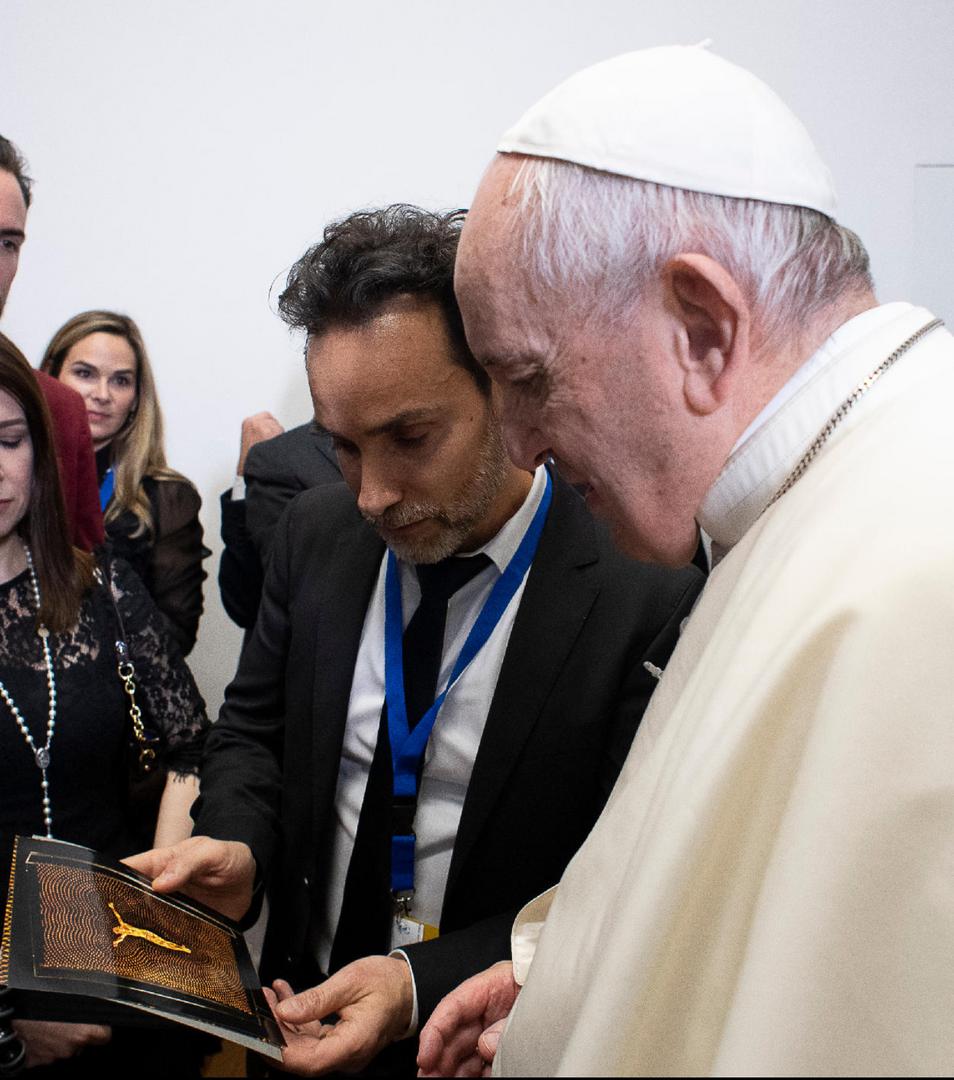 Antonio Del Prete meet Pope Francis