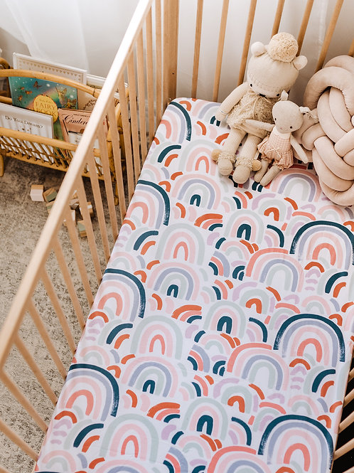 Snuggle Hunny Kids - Rainbow Baby | Fitted Cot Sheet