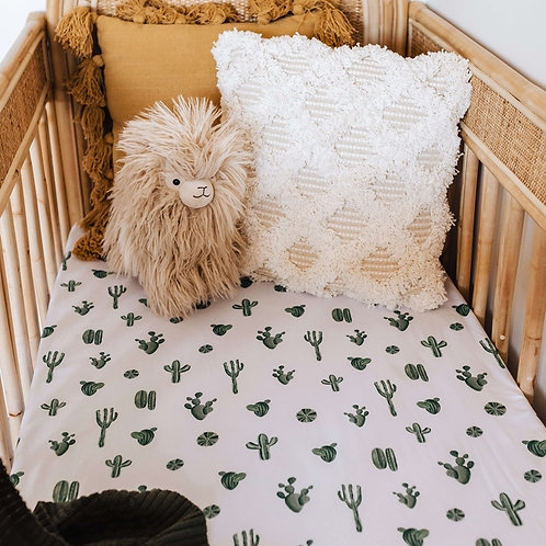 Snuggle Hunny Kids - Cactus | Fitted Cot Sheet