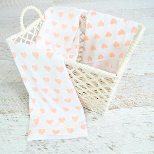 Large Bamboo Swaddling Wrap | Pink Hearts