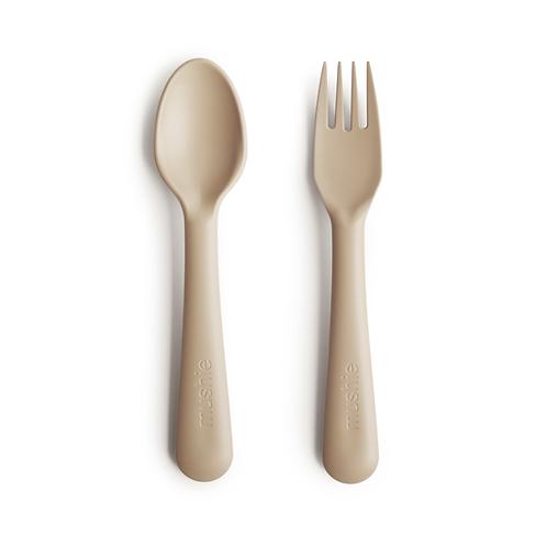 Mushie - Fork and Spoon Set (Vanilla)